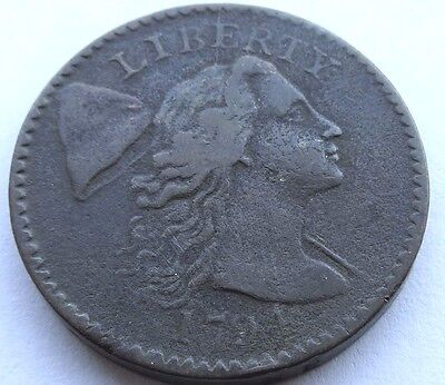 1794 Liberty Cap Large Cent, Head of '94, S-49, VF detail