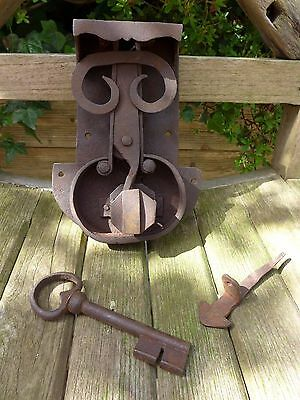 Antique Lock with Key for Old Pine/Oak Blanket Box/Chest/Trunk/Treasure