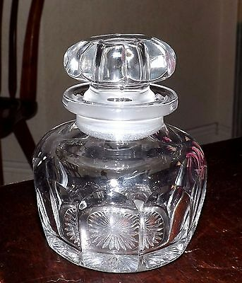 Heisey Glass Colonial Jar Lavender Vanity APothecary, Signed