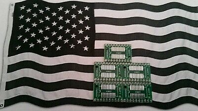 [5x] Double Sided SOP20 and TSSOP20 to DIP20 adapter Breakout PCB.  USA SELLER