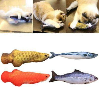 Simulation Fish Toys Catnip Filled Cat Scratching Toy Cushion Bite Pillow JJ