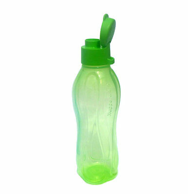 Tupperware NEW Eco 500ml Sports Water Bottle Flip Cap  in Lime Green