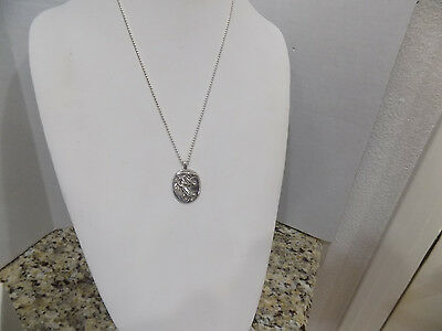 Vilmain & Klinger Signed V & K 925 Sterling Angel Pendant Necklace 925 Chain 18""