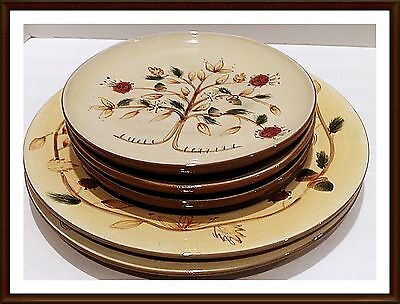 Pottery Barn Salad Plates In Tree of Life  Pattern Lot of 3