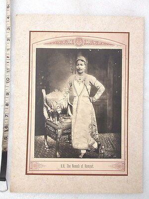"""Genuine Antique 16"""" Indian Princely State The Maharaja Nawab Of Rampur Print"""