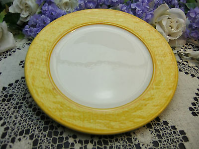 """Stangl Yellow Texture Ware 10 3/4"""" Dinner Plates-Multiples Plus Available"""
