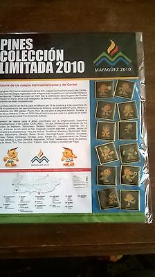 2010 caribbean and central American games pin set(12) pins
