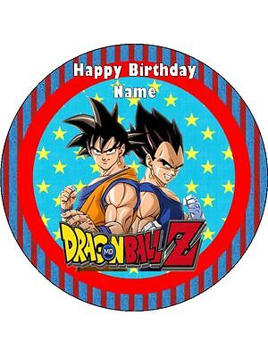 DRAGONBALL Z Edible Wafer Paper Birthday Cake Decoration 12 Cupcake Toppers