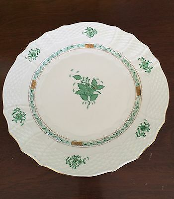 """Herend Chinese Bouquet Green 11"""" Dinner Plate / Charger # 1527"""
