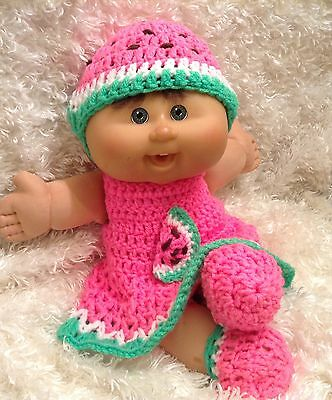 Handmade Clothes For 14 Inch Cabbage Patch Doll.Watermelon  Dress Set.