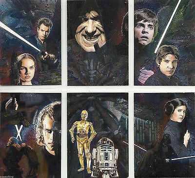 Star Wars Galaxy Series 4 - Complete Chase Card Set (1-6) 2009 Topps @ Near Mint
