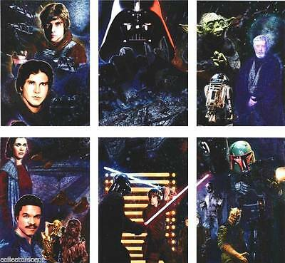 Star Wars Galaxy Series 5 - Complete Chase Card Set (1-6) 2010 Topps @ Near Mint