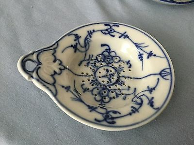Early Asian Porcelain Tea Strainer * BLUE & WHITE
