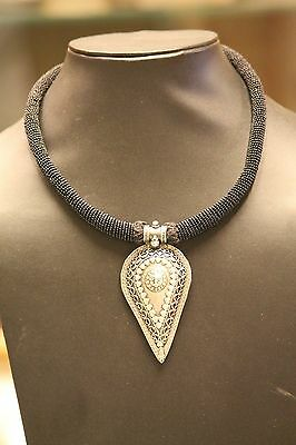 Tribal Silver Pendant Jewelry  Rajasthan India