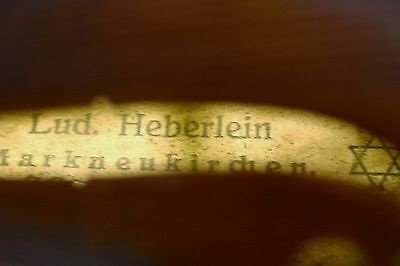 old antique 4/4 German violin label LUD HEBERLEIN Markneukirchen excl. cond