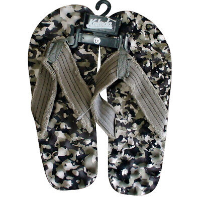 Kokoda Camo Knobby Thongs Mens in Blue Camo, Green Camo, Grey Camo