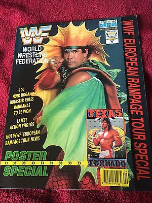 Wwf/wwe Poster Magazine Sporting Superstars Vol2 No6 Steamboat Cover/texas/1991