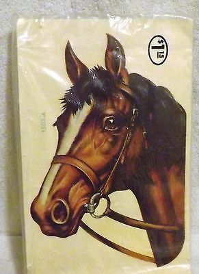 Vtg NOS Meyercord Brown Horse Head Waterslide Decal for Furniture Arts Crafts