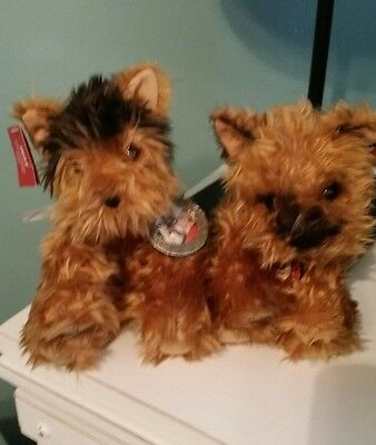 2003 Limited Edition Victoria's Secret Max & Lucy Twin Yorkie Puppies Plush Nwt