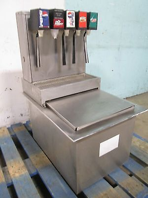 """""""stainless Ice-Tainer Co"""" H.d. Commercial Drop-In Insert 5 Heads Soda Dispenser"""