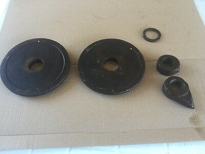Mobilco Saw Mill Gear Head Flanges And Locking Nut.fits Buzzsaw Mobilco.