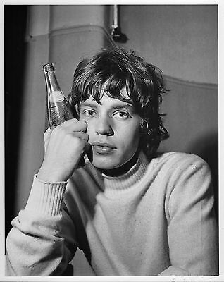 ICONIC 1965 Photo MICK JAGGER by Ian Wright 8x10 Superb Rolling Stones w/ COA