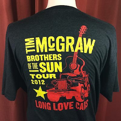 Tim McGraw Pennzoil 2012 Brothers of the Sun Tour t-shirt Men's 2xl Country
