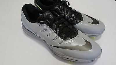 Nike men's Lunar Control 4 Golf shoes Wolf Gray Black & Green Size 12 NEW