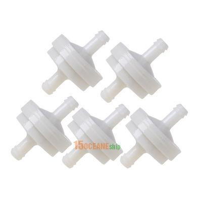 5pcs Inline Gas Fuel Filters for Briggs/Stratton 298090S 75um Replacement White