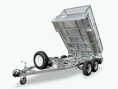 10x5 HYDRAULIC TIPPER TRAILER  3.5T TON with CAGE HOT DIP GALVANISED Melbourne