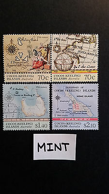 No 3-- 2014 -COCOS  ISLAND  MAPS OF  COCOS  --4 STAMPS --F/SET -MINT -MNH-A1