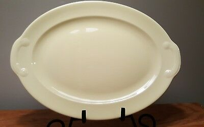 """LuRay Pastels Yellow Oval 11.5"""" Platter T.S. & T. Vintage"""
