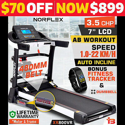 New NORFLEX 3.5CHP Treadmill Auto Incline Excercise Equipment Gym
