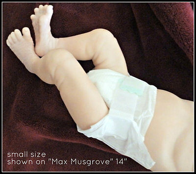 """12 PACK MICRO PREEMIE DIAPERS mini 10"""" 11"""" 12"""" 14"""" reborn doll real baby small"""