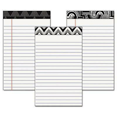 Tops 30491 Fashion Legal Pads with Assorted Headtapes, 5 x 8, 50 Sheets, 6 Pads/