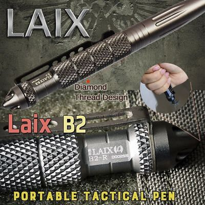 Laix Self Defence Tactical Pen Glass Breaker DNS PEN Survival Tool With Refills