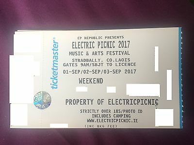 Electric Picnic 3Day+Camping ticket