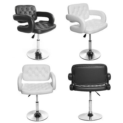 Adjustable Quilted Leather Salon Stool Barber Chair Beauty Hairdressing Chairs