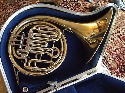 Danor Bb/F Compensating Horn with Case and Mouthpiece. Serviced