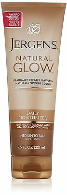Jergens Glow Daily Moisturizer for Natural looking tan,7.5Oz MED-TAN USA import