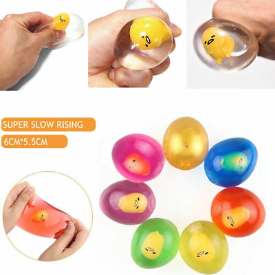 Gel Egg Stress Ball Hand Finger Exercise Therapy Stress Squeeze Relief Soft Ball