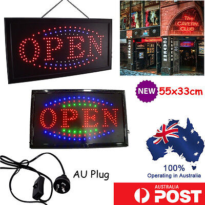 "FLASHING LED SIGN ""OPEN"" SIZE 55CM X33CM  with ON and OFF SWITCH"
