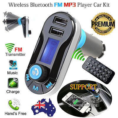 Wireless Bluetooth MP3 Player FM Transmitter Handsfree SD Car Kit USB Charger AU