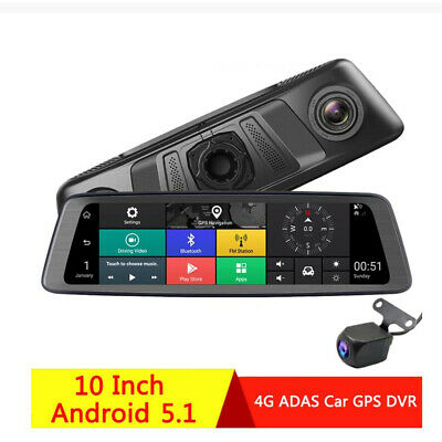 "7"" 3G Special Car DVR Camera Mirror Android 5 with Wifi bluetooth GPS Dual Lens"