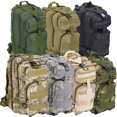 28L Camping Hiking Bag Army Military Tactical Backpack Rucksack Sport Travel