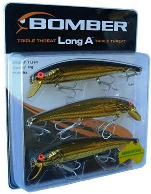 Gold Bomber 3pc Lure Pack - Long A Triple Threat
