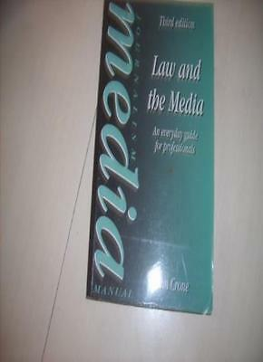 Law and the Media: An Everyday Guide for Professionals (Media Manuals),Tom Cron