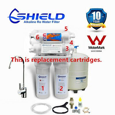 Shield 7 Stage Reverse Osmosis RO Water Filter System Replacement Cartridges