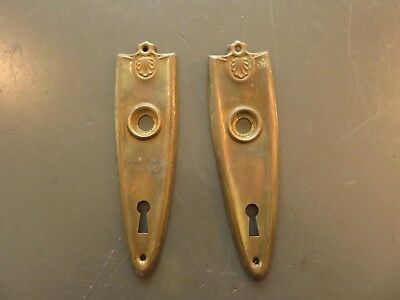 Antique Brass ??  Door Knobs Door Ornate Back Plates And Lock