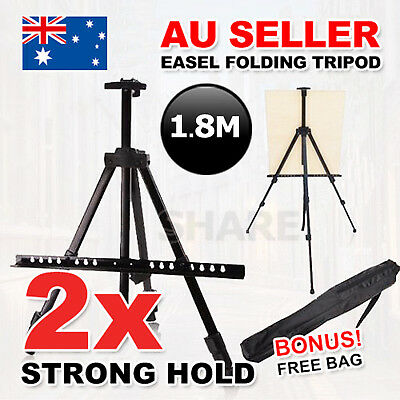 2x Stand Tripod Easel Display Drawing Board Art Artist Sketch Painting Bag